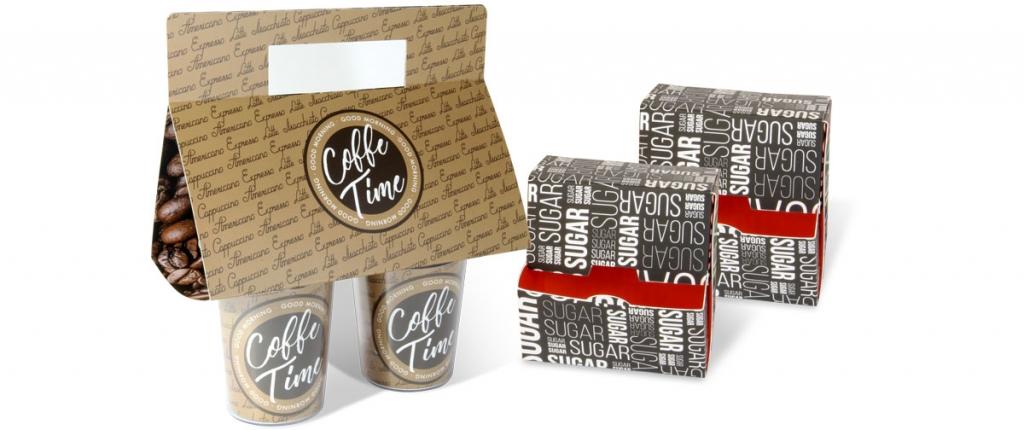 Caja portavasos y caja dispensadora - packaging alimentario - Truyol Digital