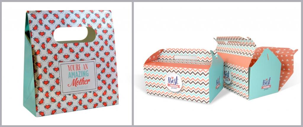 Caja tipo bolsa del Dia de la Madre y cajas regalo - packaging Truyol Digital