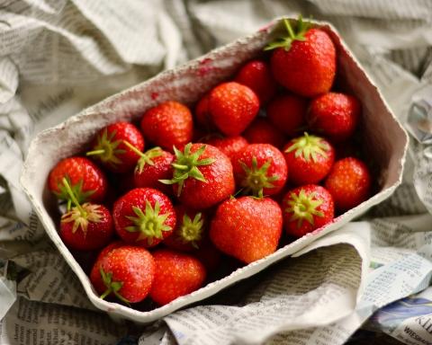 caja de fresas