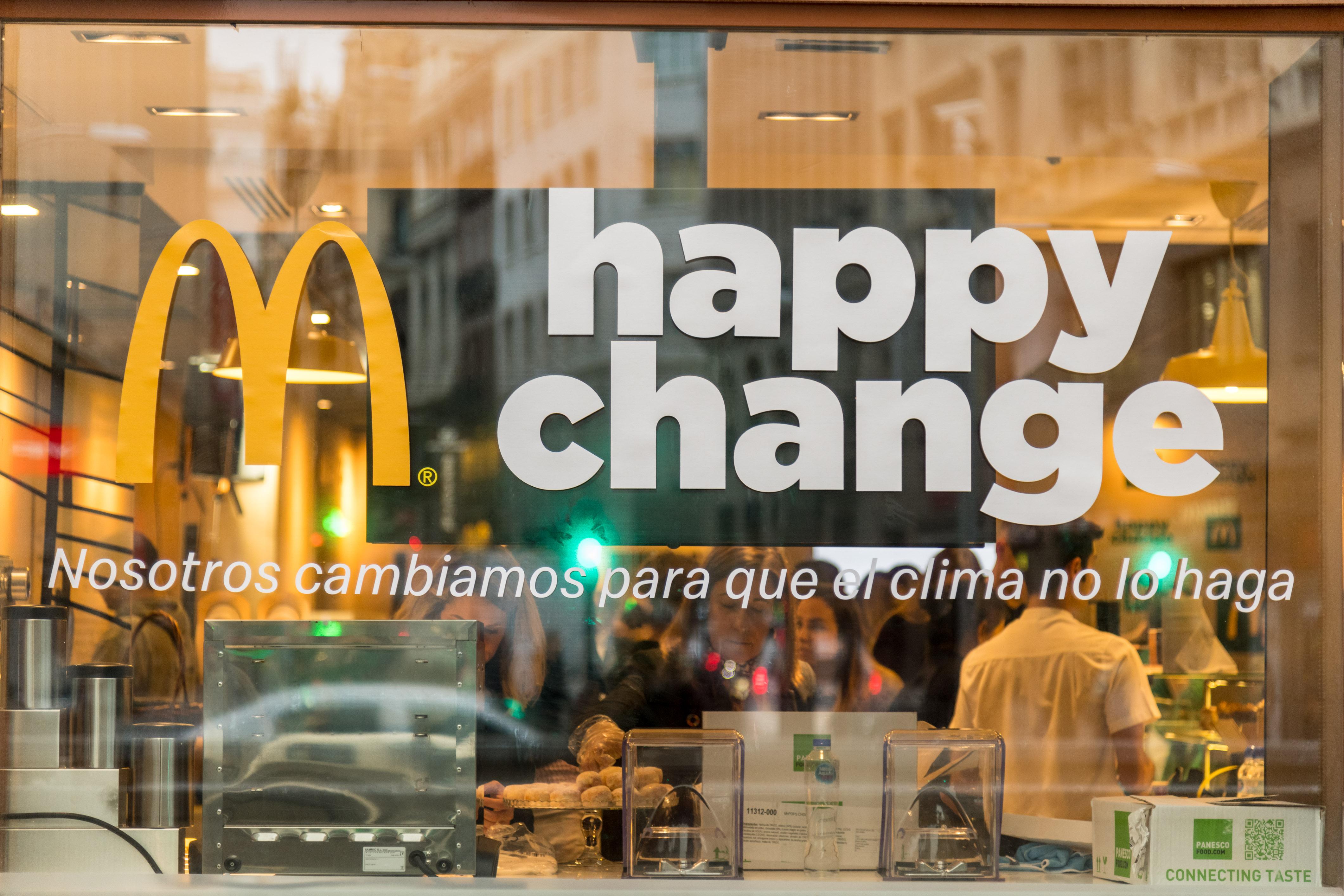 McDonald's happy change