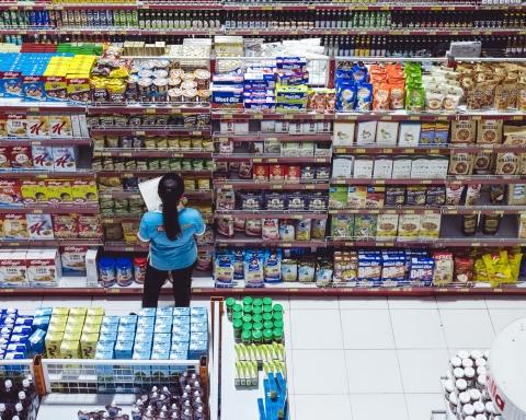 imagen envases en supermercado